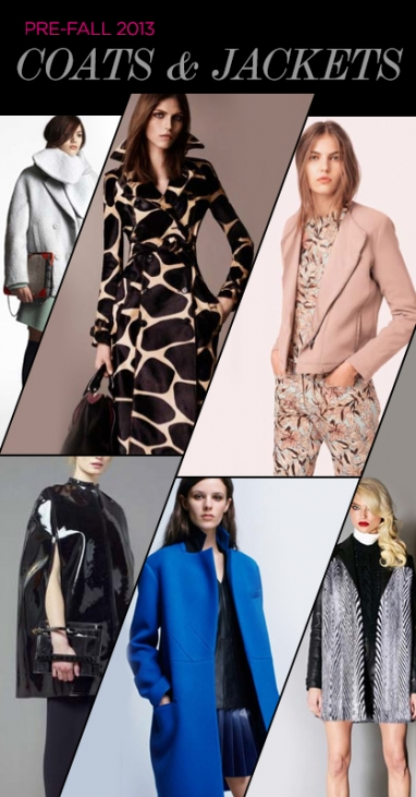 Pre-Fall 2013 Trends: Coats & Jackets