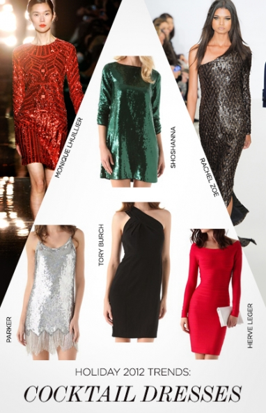 Holiday 2012 Trends: Colorful Cocktail Dresses