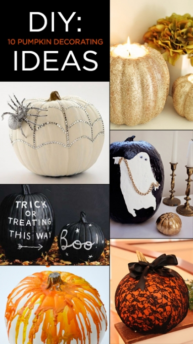 DIY: 10 Pumpkin Decorating Ideas