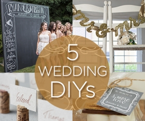 Try It: 5 DIY Ideas for Your Wedding Day