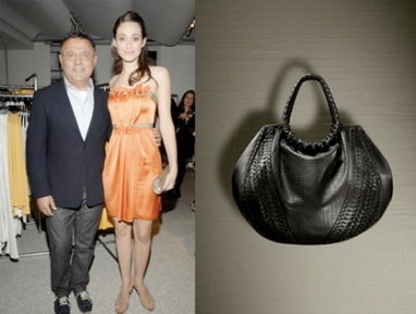 Emmy Rossum designs handbag for Elie Tahari