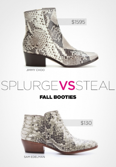 Splurge vs. Steal: Fall 2012 booties