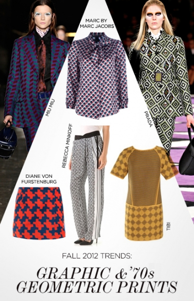 Fall 2012 trends: geometric and '70s graphic prints