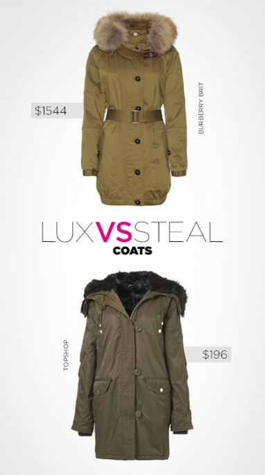LUX vs. Steal: coats