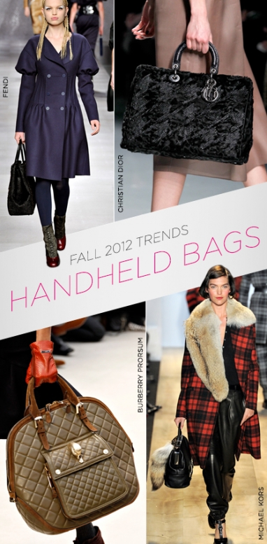 Fall 2012 trends: handheld handbags