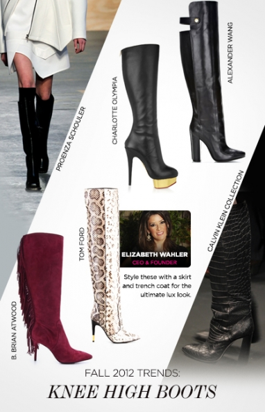 Fall 2012 trends: knee-high boots