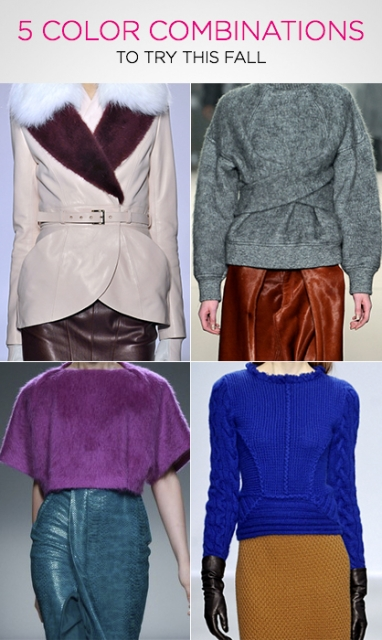 Get the Look: 5 Color Combinations to Try This Fall