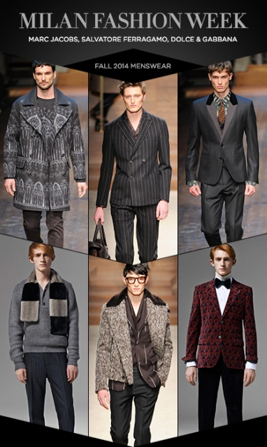 Menswear MFW: Marc Jacobs, Salvatore Ferragamo, Dolce and Gabbana F 14
