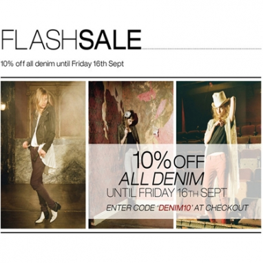 FLASH SALE: 10% off All Denim @ Glassworks-Studios.com
