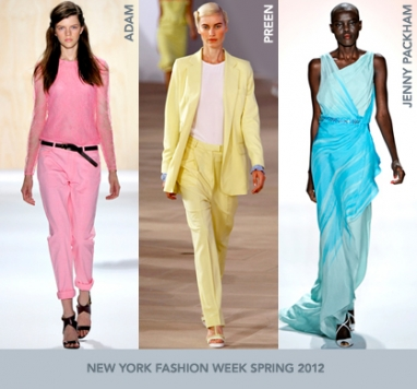 NYFW Spring 2012: Pastel Colors