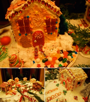 LUX Party: Decorating gingerbread houses