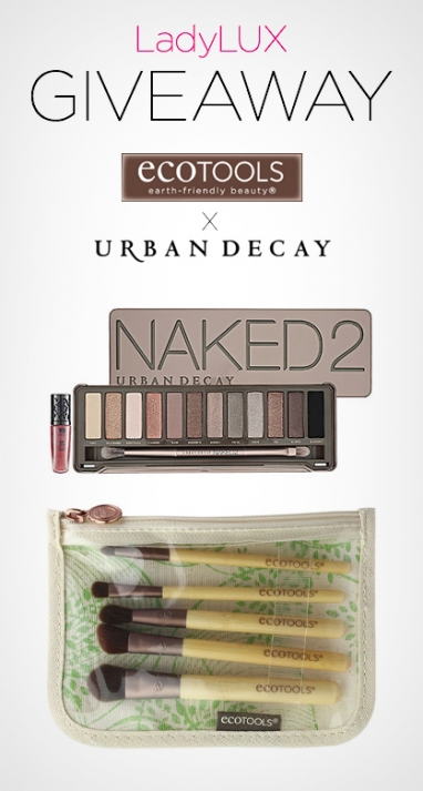 Beauty Giveaway: Urban Decay Naked 2 + EcoTools Brushes