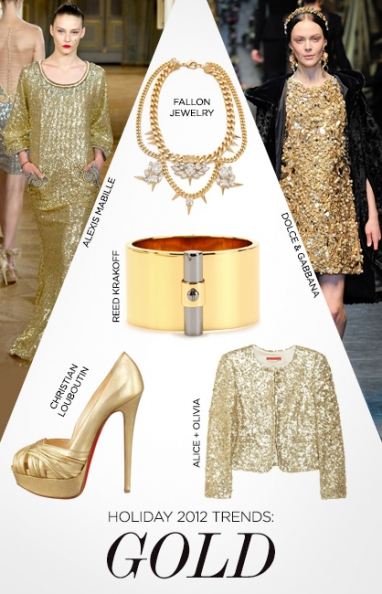 Holiday 2012 Trends: Gold