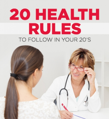 20 Health Tips to Make The Most of Your 20's