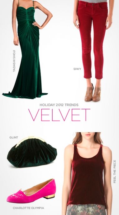 Holiday 2012 Trends: Velvet