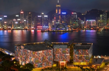 Hong-Kong Harbor Transformed by American Artist. Richard Prince