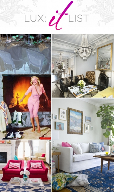 "LUX ""It"" List: Top 5 Interior Design Posts"
