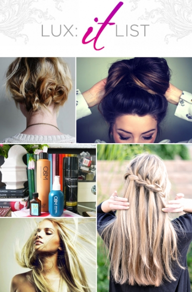 "LUX ""It"" List: Five hairstyle and hair care blog posts for long and short hair"