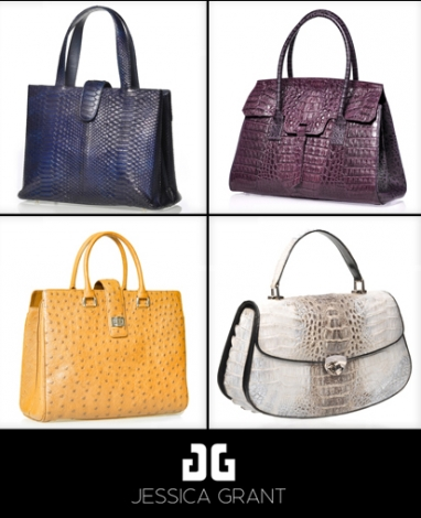 Exotic handbag line Jessica Grant is wearable art