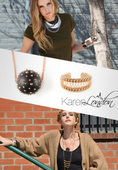 Karen London jewelry mixes bohemian chic and hard edged for modern pieces