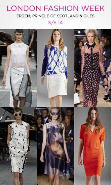 Spring 2014 LFW: Erdem, Pringle of Scotland and Giles