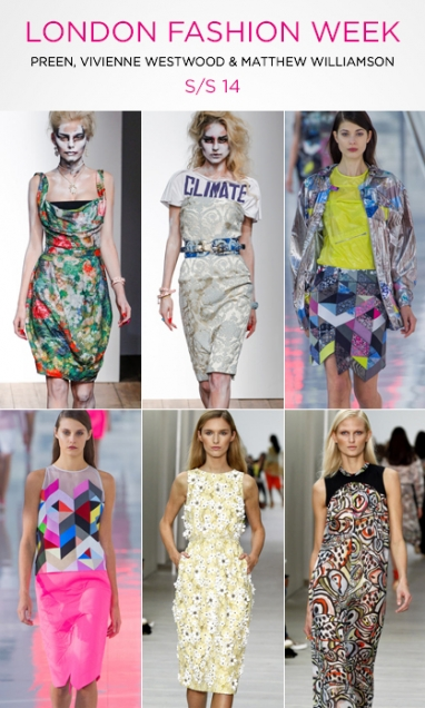 LFW: Preen, Vivienne Westwood and Matthew Williamson S/S 14