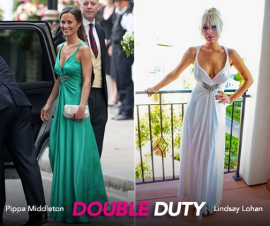 Lindsay Lohan knocks off Middleton at Kardashian wedding
