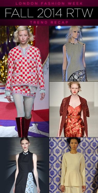 London Fashion Week: Fall 2014 RTW Trend Recap