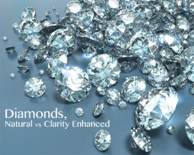 Natural versus clarity enhanced diamonds