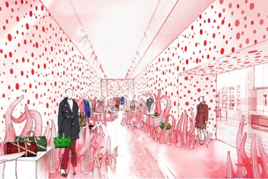 Louis Vuitton collaborates with Yayoi Kusama, opens pop-up shops