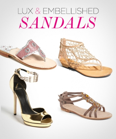 LUX Style: embellished sandals