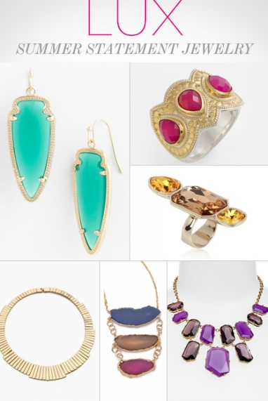 LUX Style: Summer Statement Jewelry