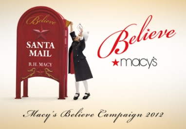 Macy's celebrates the 5th Anniversary of the Believe Holiday Campaign