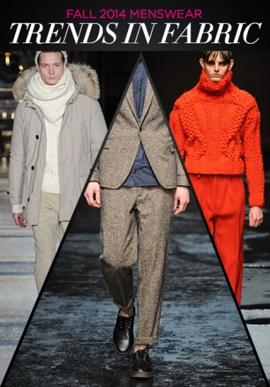 Menswear Fall 2014: Fabric Trends