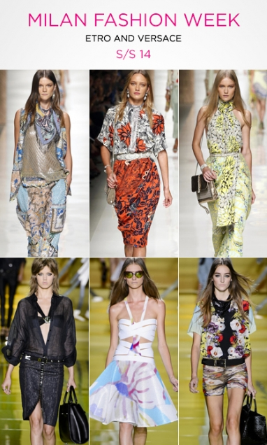 MFW: Etro and Versace S/S 14