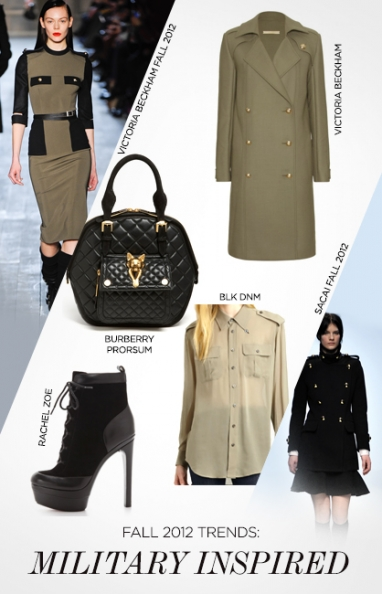 Fall 2012 trends: military inspired