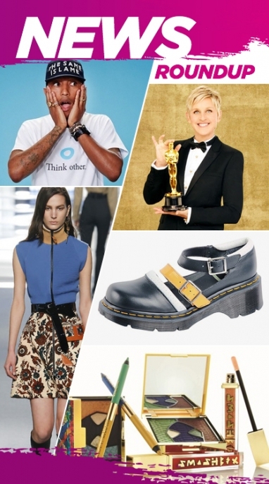 Week In Review: Smashbox Collaboration, Pharrell's Clothing Line & The 86th Academy Awards