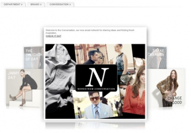 Nordstrom sparks 'conversation' with new Web site