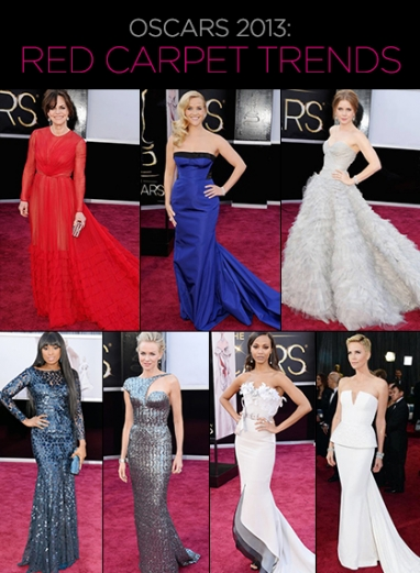 Oscars 2013: Red Carpet Trends