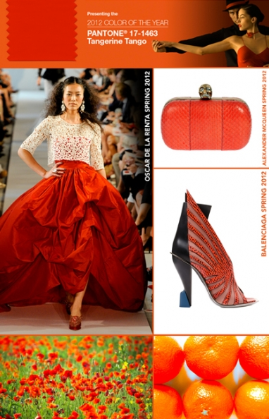 Tangerine Tango bursts into 2012 as Pantone's color of year
