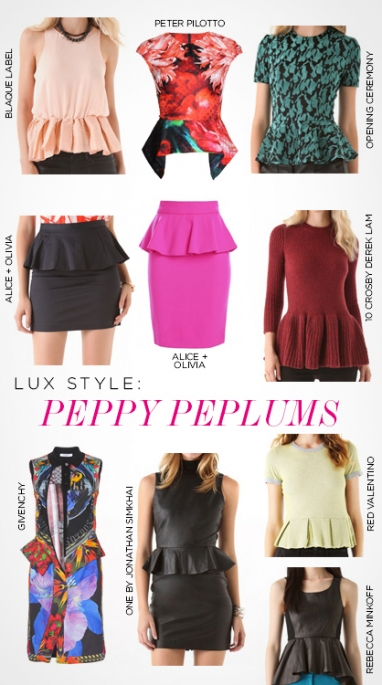 LUX Style: peppy peplums