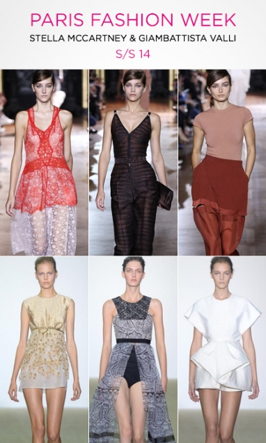PFW: Stella McCartney & Giambattista Valli S/S 14