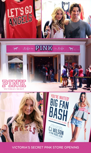 Victoria's Secret PINK celebrates store opening and MLB Collection with Elsa Hosk and C.J. Wilson