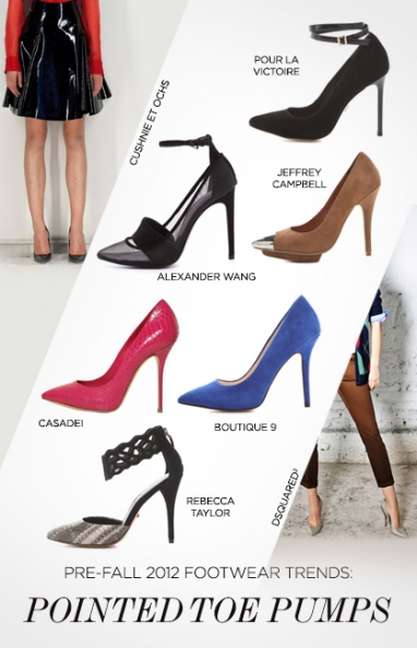 Pre-Fall 2012 trends: footwear