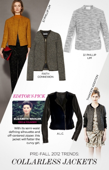 Pre-Fall 2012 trends: collarless jackets