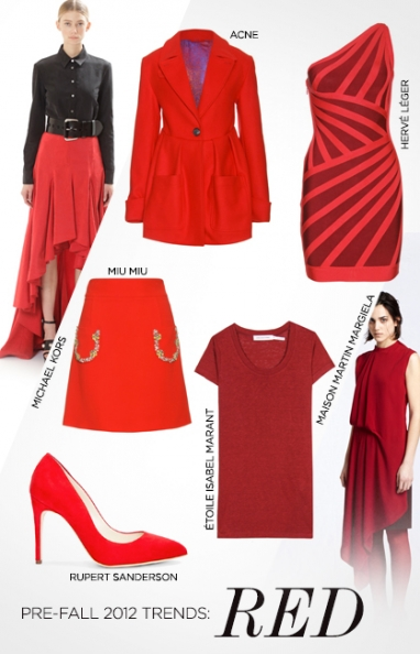 Pre-Fall 2012 trends: red