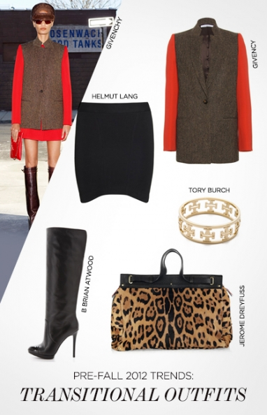 Pre-Fall 2012 trends: transitional outfits