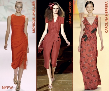 At NYFW: A Pop Of Red