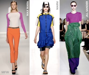 At MFW: Colorblock