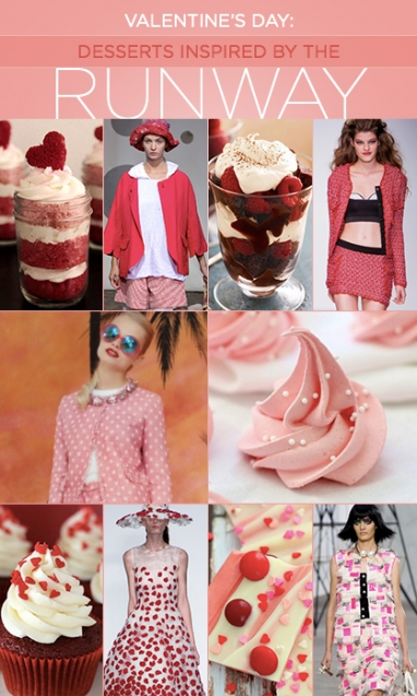 Valentine's Day: Desserts Inspired by the Runway